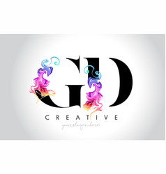 Gd vibrant creative leter logo design with vector