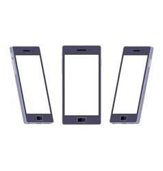 Generic black smartphone vector image