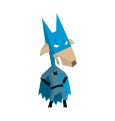 Goat Super Hero Character vector