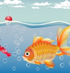 goldfish for children - a joy for adults - the fu vector image