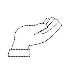 hand human receiving icon vector image