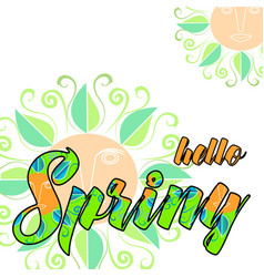 Hello spring abstract background vector