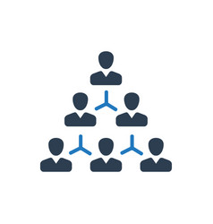 Hierarchy employee structure icon vector
