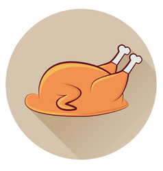 icon chicken on a brown background vector image