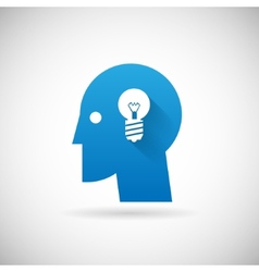 Idea Symbol Business Creativity Icon Design vector image