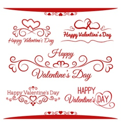 Inscriptions for Valentines Day vector