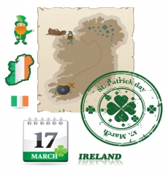 Ireland icons vector