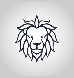 lion head icon logo vector image