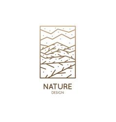 Logo nature elements ornamental vector