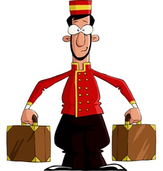 luggage porter vector image