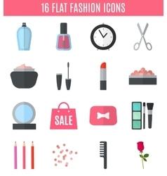 Make up flat icons vector