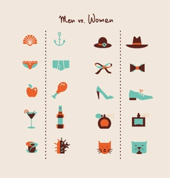 Man and woman symbols vector