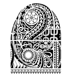 Maori style sleeve tattoo vector