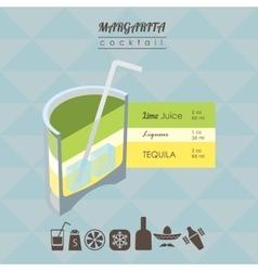 Margarita cocktail flat style isometric vector image