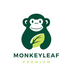 monkey leaf logo icon vector image