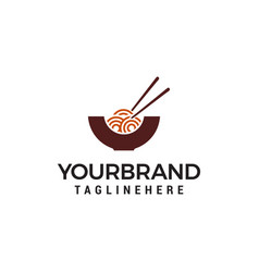 noodles logo design concept template vector image