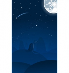 observatory falling star vector image