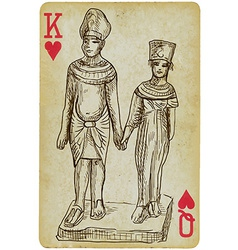 Pharaoh and queen vector