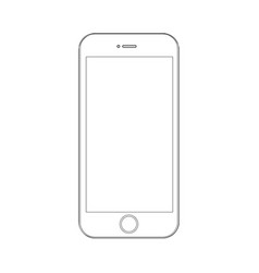 phone on a white background with lines vector image