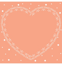 pink romantic card with ornamental heart vector image