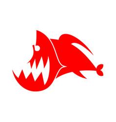 Piranhas logo sign marine predator fish amazon vector