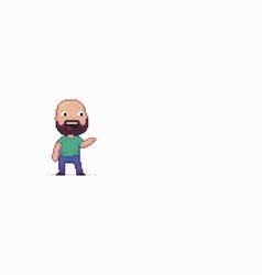 pixel art character vector image
