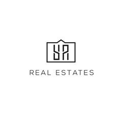 real estates logo vector image