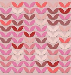 retro giometric seamless circles pink paper vector image