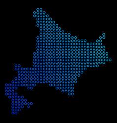 Round dot hokkaido island map vector