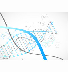 Science template blue wallpaper or banner with a vector