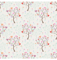 Seamless background with trees and multicolored vector image