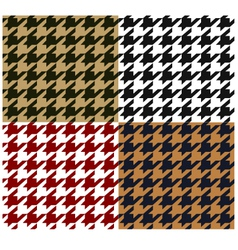 seamless houndstooth fabric pattern vector image