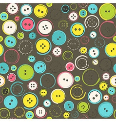 Seamless Pattern with Decorative Sewing Buttons vector image