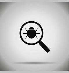 search bug icon virus vector image
