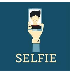 Selfie photo flat design vector