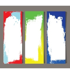 Set abstract banners vector