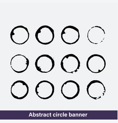 Set of coffee ring stains vector