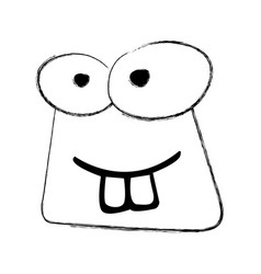 Sketch draw funny toad face vector