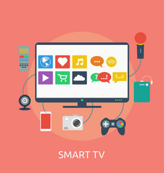 smart tv conceptual design vector image