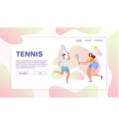sport flat vector image