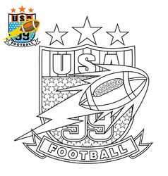 sport logo on coloring page or book vector image