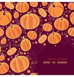 Thanksgiving pumpkins corner decor pattern vector image