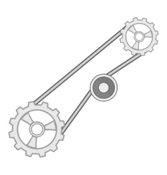 Timing belt icon cartoon style vector