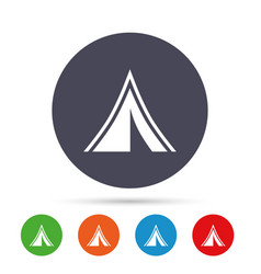 tourist tent sign icon camping symbol vector image