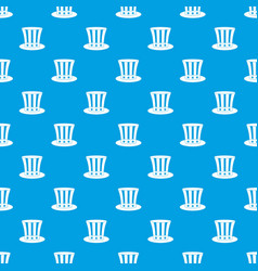 uncle sam hat pattern seamless blue vector image