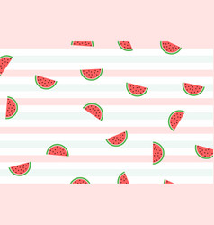 Watermelon background pattern eps10 vector