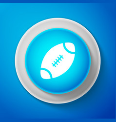 White american football ball icon isolated vector