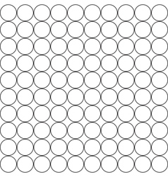 White circles with a thin black border abstract vector