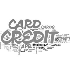 why get a low apr credit card text word cloud vector image