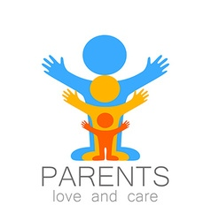 parents love care logo vector image vector image